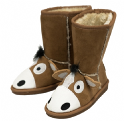 6638d1f3da36 Toasty Toez Unisex Horse Slipper Boots for Children .
